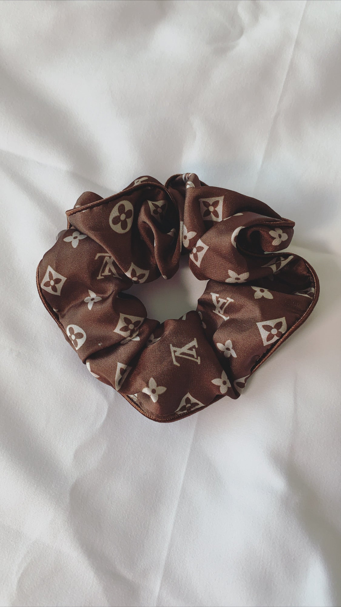 Luxury Inspired Scrunchie (brown)