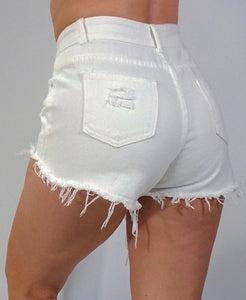 Casual Summer Denim High Waists Shorts
