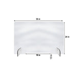 Small Opening Standard Counter Top Contact Barrier