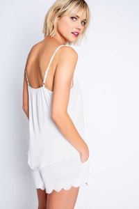 Scallop-neck Ivory Cami