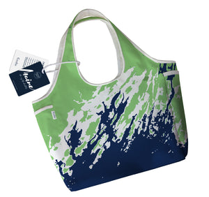 Maine Coast Boho Tote, Casco Bay, Green