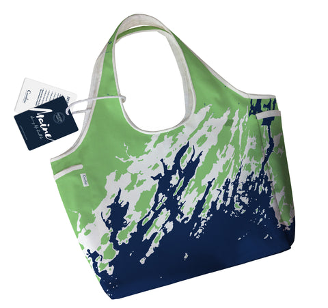 NEW Boho Tote, Casco Bay, Green