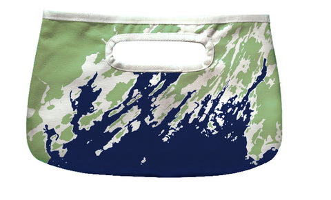 Happy Hour Clutch, Casco Bay to Boothbay Maine, Green