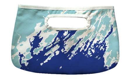 Midsummer Night's Dream Clutch, Casco Bay to Boothbay, Blue