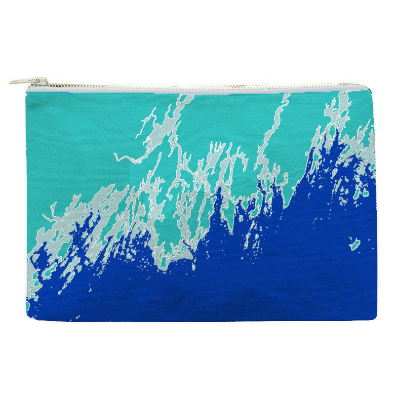 Weekend Away Zip Pouch, Sea Spray