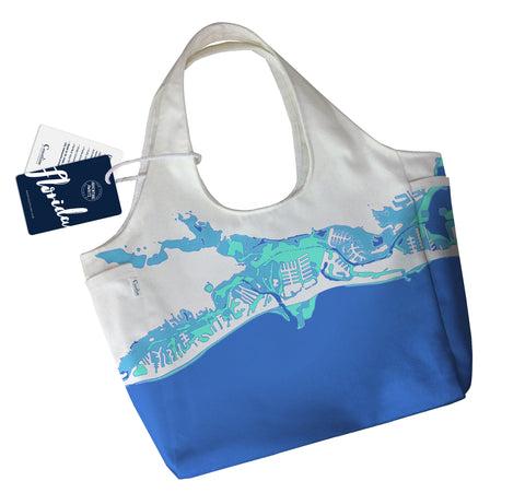 NEW Florida Gulf Coast Boho Tote, Blue