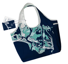 Load image into Gallery viewer, Gulf Coast Boho Tote, Navy + Sand