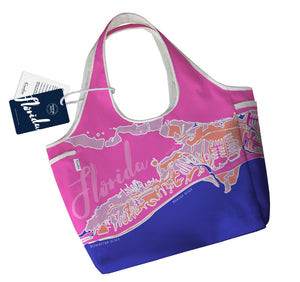 NEW Gulf Coast Boho Tote, Bird of Paradise