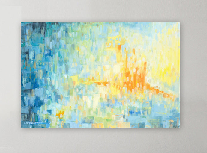 Dreamy Blue Abstract Giclee Print 36x24