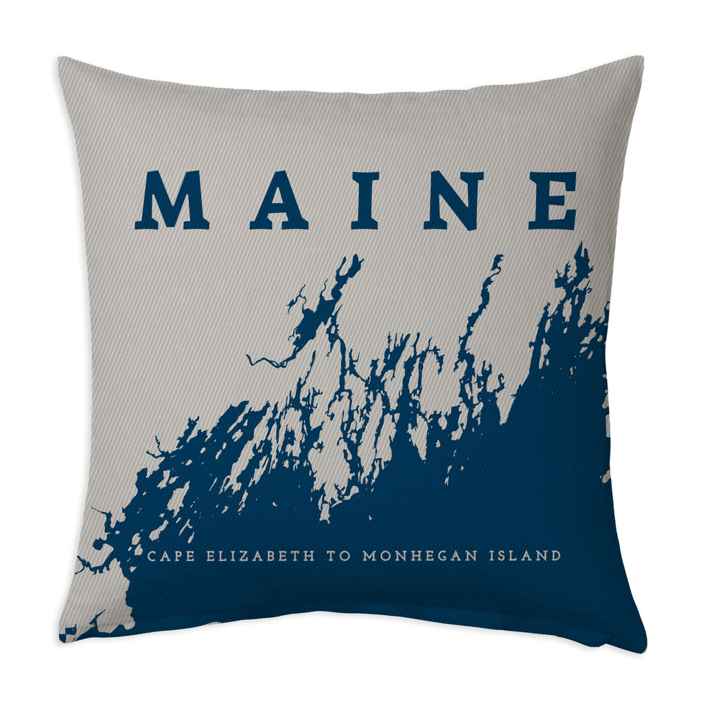 Pillow Case: Cape Elizabeth to Monhegan, Navy + Steel