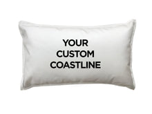 Load image into Gallery viewer, Custom Coastline Pillow Set