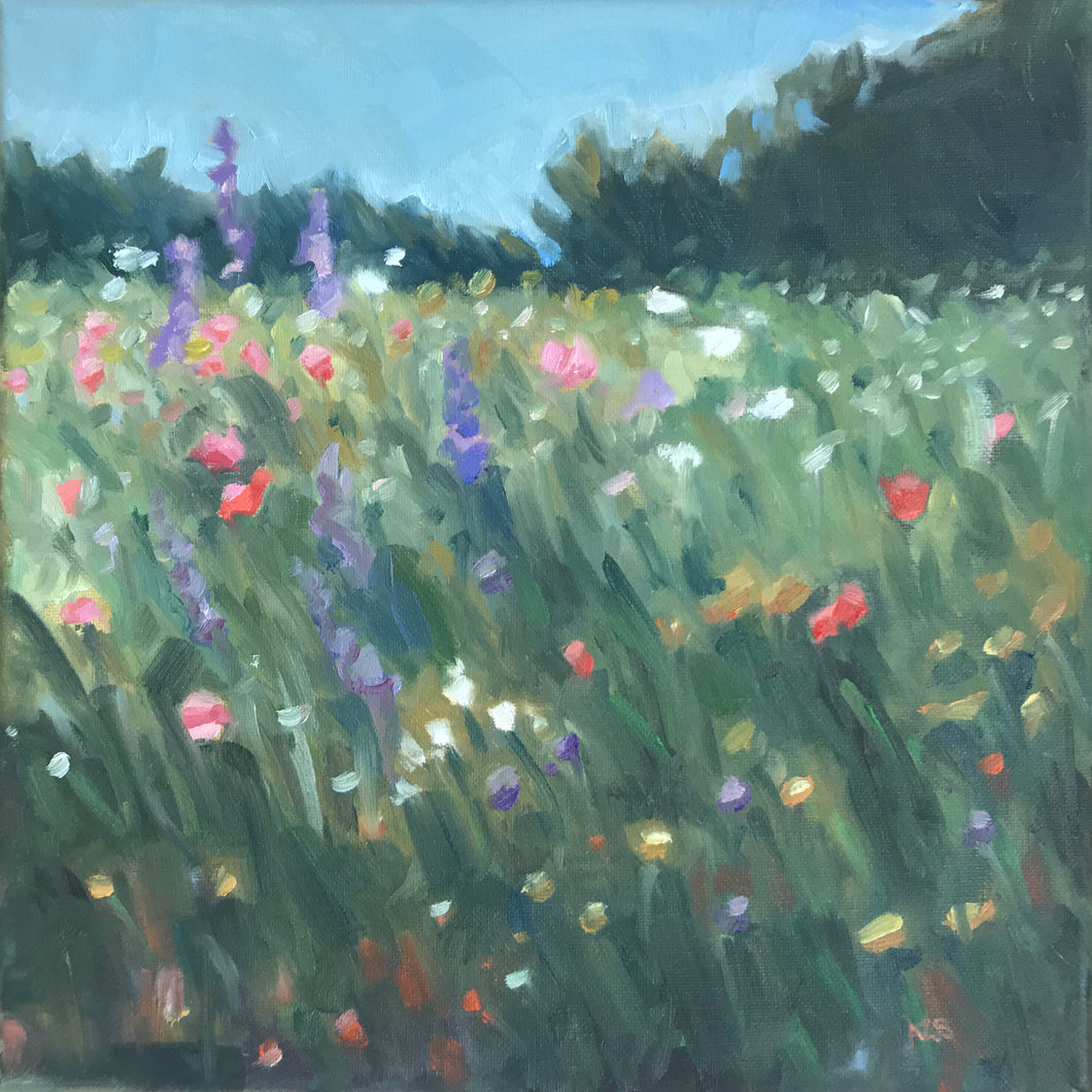 June Wildflowers, 12x12