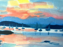 Load image into Gallery viewer, Sunrise Over the Marina Color Study 12x9