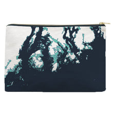 Load image into Gallery viewer, Maine Coast Zippered Pouch, Faded Turquoise and Indigo