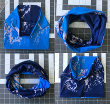 Load image into Gallery viewer, NEW Coastline Fitted Reversible Neck Band, Cool Blues
