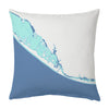 Gulf Coast I: Belleair Shores, Indian Rocks Beach and Indian Shores Indoor/Outdoor Decorative Throw Pillow, Aqua Beach