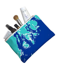 Load image into Gallery viewer, Weekend Away Zip Pouch, Sea Spray