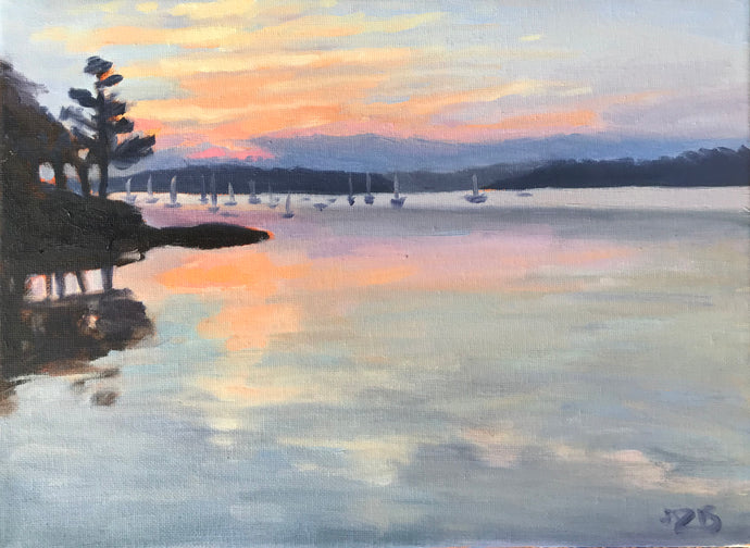 Sunrise Over the Marina II 12x9