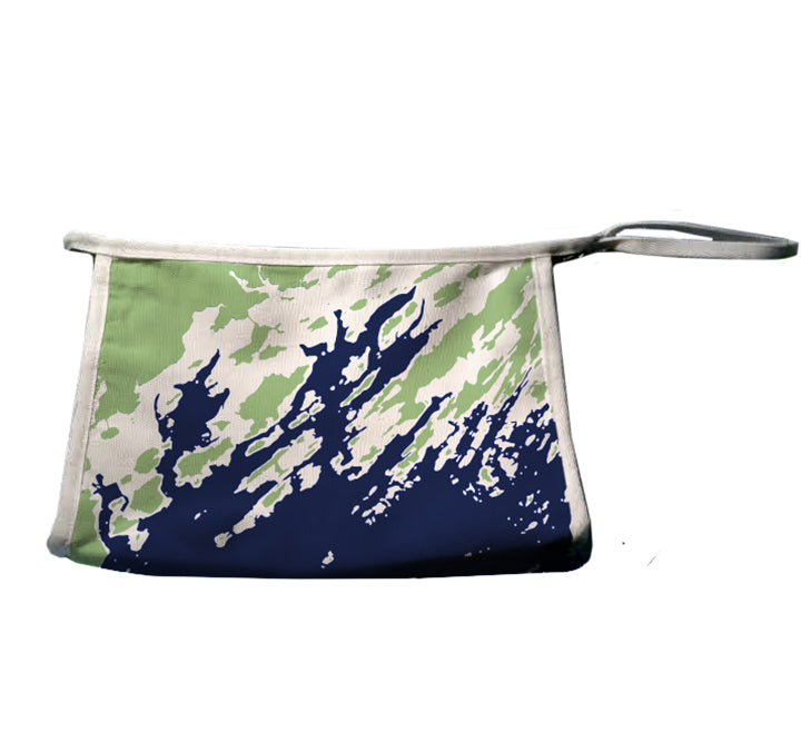 Maine Coast Weekend Away Pouch, Green