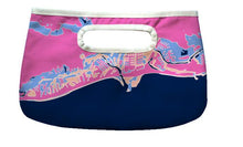 Load image into Gallery viewer, Happy Hour Clutch, Gulfcoast Florida, Pink/Navy