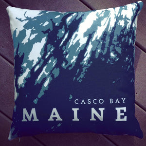Casco Bay Maine Throw Pillow Plus Insert OR Pillow Cover Only