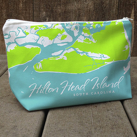 Weekend Away Bag, Hilton Head Aqua + Spring Green
