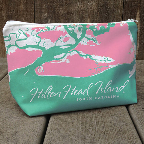 Weekend Away Bag, Hilton Head Aqua + Pink