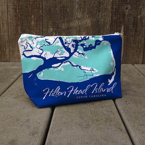 Weekend Away Bag, Hilton Head Aqua + Cobalt Blue