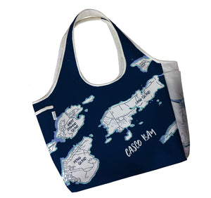 Portland Maine & Surrounding Islands Boho Tote