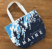 Load image into Gallery viewer, ONE-OF-A-KIND Open Sailor's Tote, Casco Bay Maine, Blue