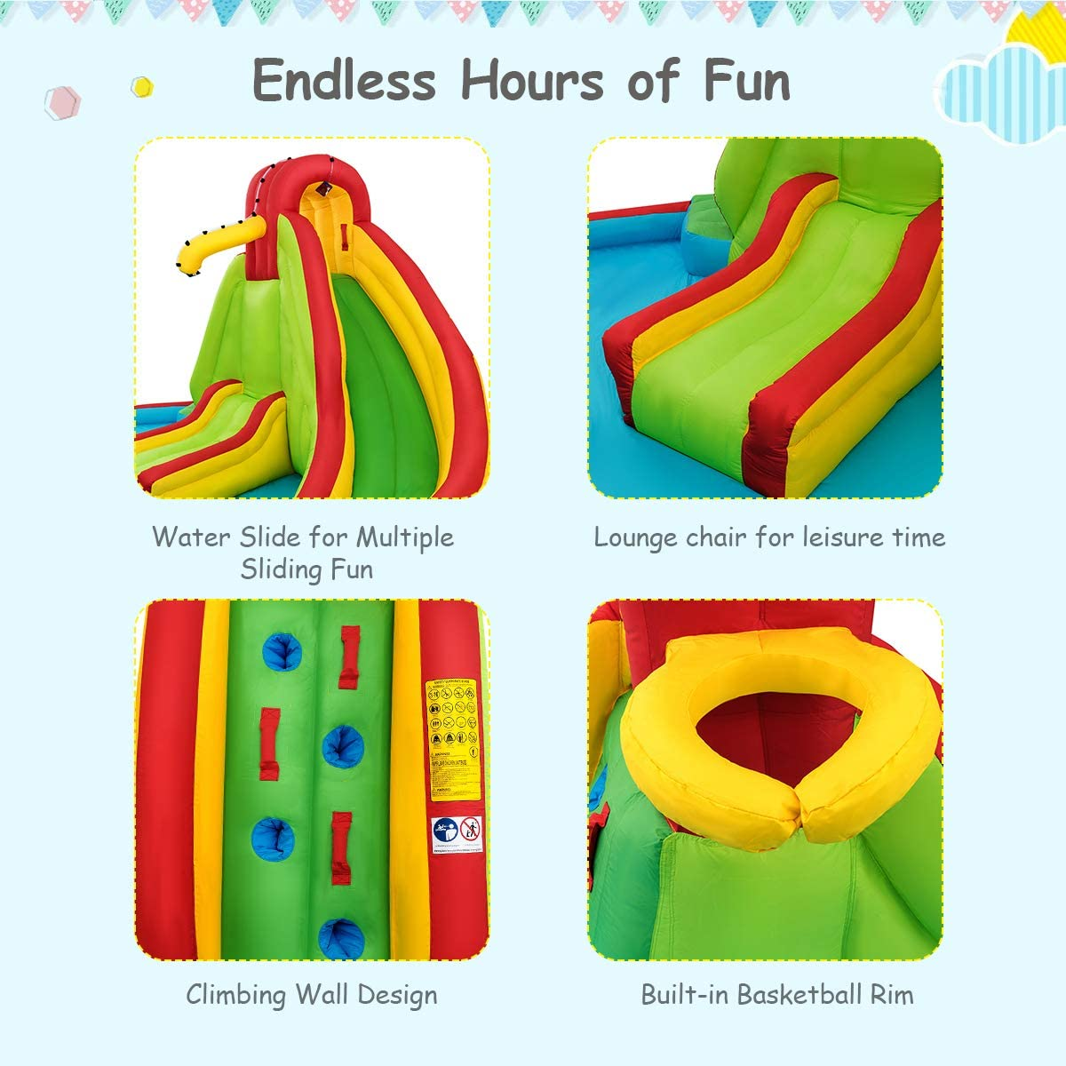 inflatables with water slide