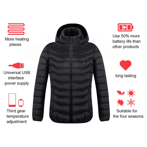 Horizon Care USB Electric Heating Vest Jacket Winter Heated Pad Body Warmer for Men Women By Wild Crave