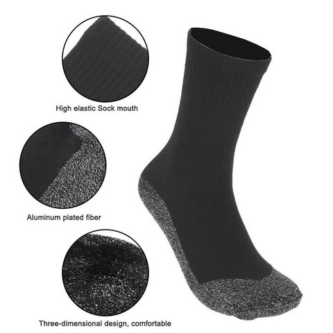 35 Degree Winter Thermal Insulated Heated Socks, Warm Heating Socks for Sport Outdoor Camping By Cpress Trendz