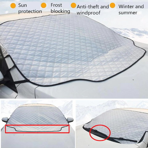 All Weather Universal 1 PC Car Snow Windshield Anti-Wind Sun Rain Snow Dust Protection Cover By Wild Crave