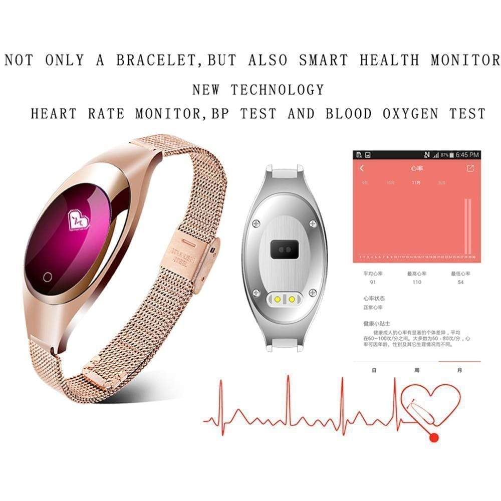 Black Star Shopp Smart Watch - Blood Pressure Heart Rate Monitor, Fitness Tracker, Pedometer.