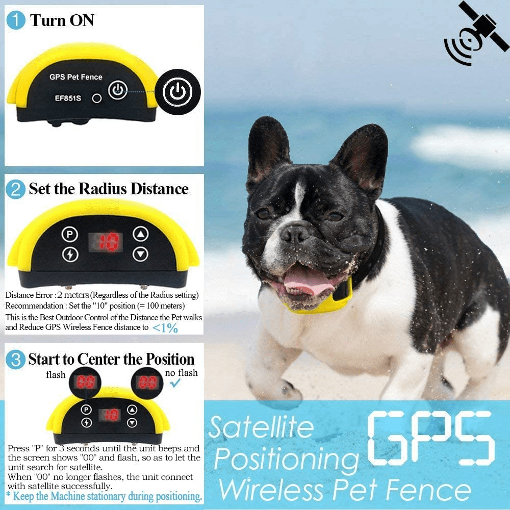 Horizon Care 2020 All New Wireless Electric Dog Fence GPS Outdoor Containment System Transmitter Collar Rechargeable Waterproof