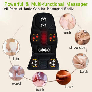 Horizon Care KIFIT Practical Multifunctional Car Chair Body Massage Heat Mat Seat Cover Cushion Neck Pain Lumbar Support Pad Back Massager