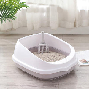 Horizon Care Pet Toilet Bedpan Anti Splash Cats Litter Box Cat Dog Tray with Scoop Kitten Dog Clean Toilette Home Plastic Sand Box Supplies