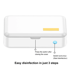 Horizon Care Phone Sanitizer Cleaner Box Virus Bacteria Destroying Smartphone Sterilizer Disinfect Cell - Safely Kills & Disinfects Up To 99% Viruses