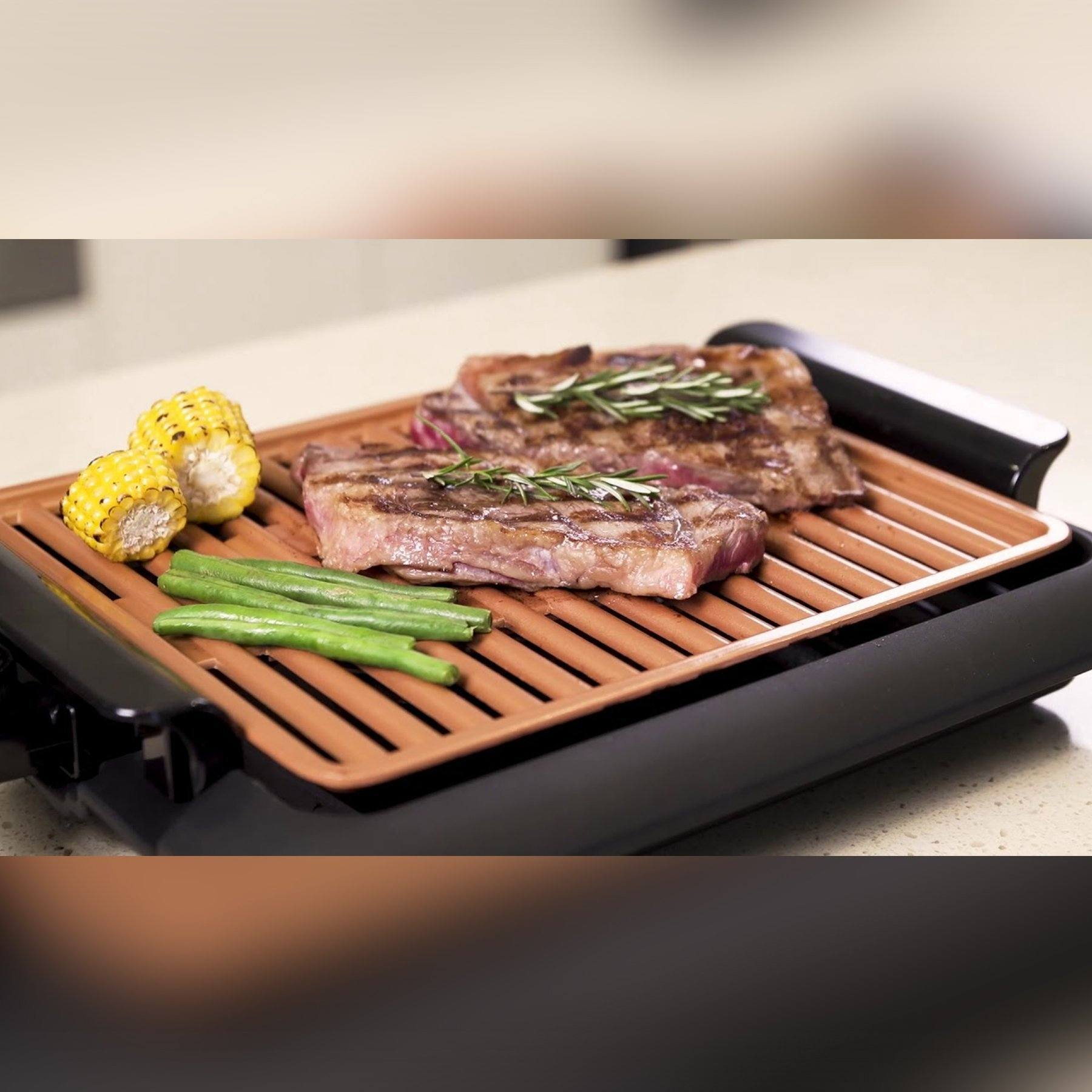 Horizon Care Smokeless Grill - Nonstick and Portable Electric Indoor Grill