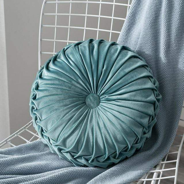 Horizon Care Velvet Pleated Cushion Floor Pillow