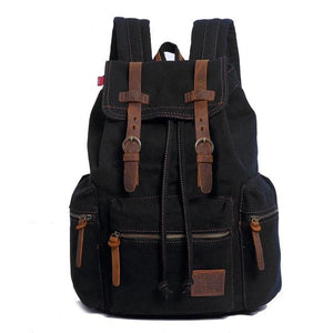 Horizon Care Vintage Travel Canvas Rucksack Backpack