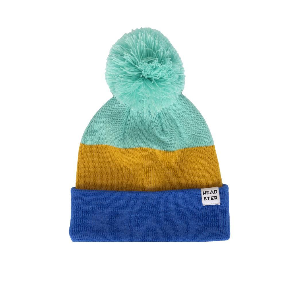 Tricolor Toque - Mint/Mustard/Blue - SM