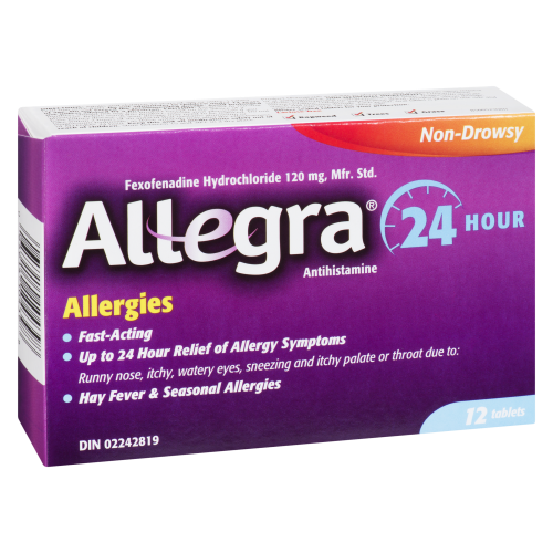 Allegra Non Drowsy 24 Hour Tablets 12's