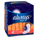 Always 14's Maxi Overnight Unscented