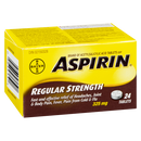 Aspirin 325 mg 24 tablets