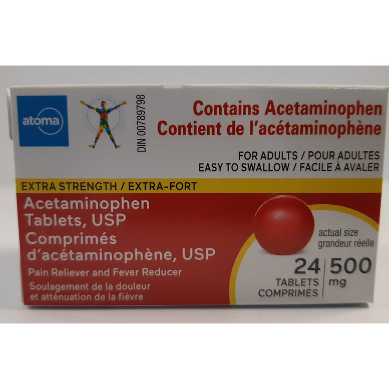 Atoma Acetaminophen 500 mg 24 tabs