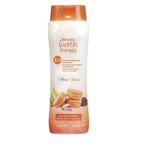 Belcam Bath Therapy Body Wash/Bubble Bath Sea Salt/Caramel 500ml