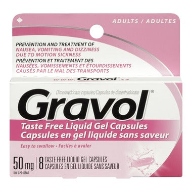 Gravol Adult 50mg 8 Caps