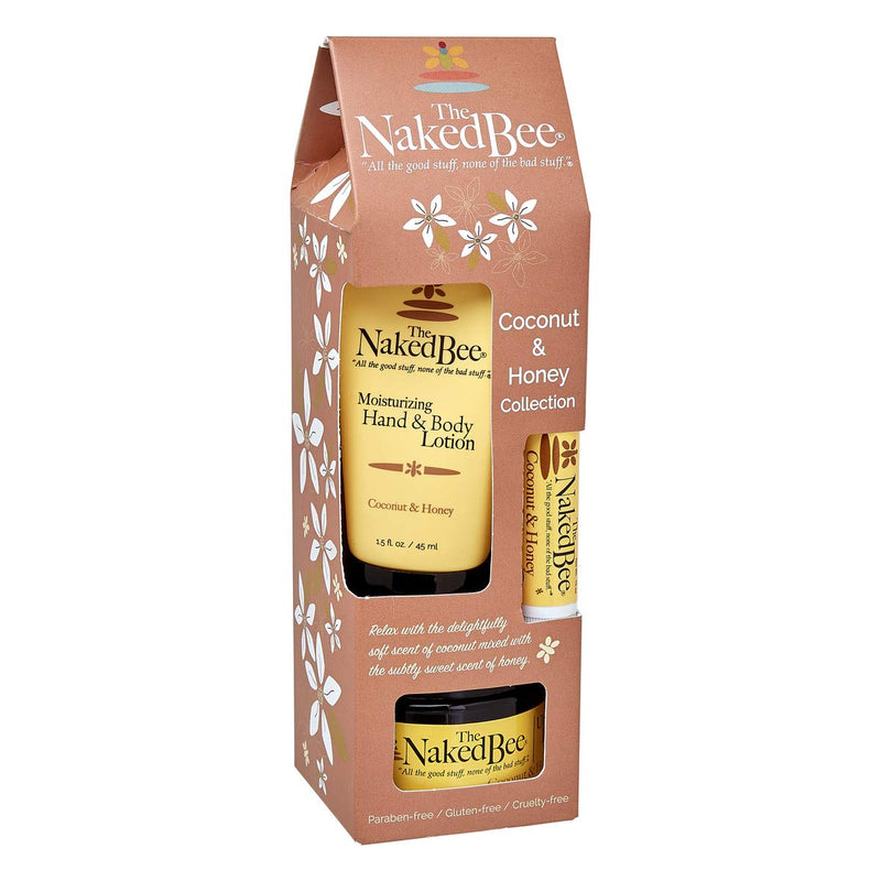 Naked Bee 3pc Gift - Coconut Honey